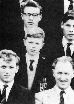 Young David Bowie at school.
