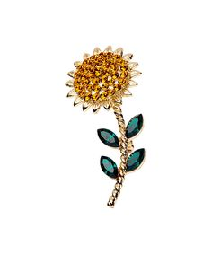 Look at this Yellow & Green Sunflower Brooch on #zulily today!