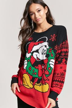 Product Name:Mickey Mouse Holiday Sweater, Category:sweater, Price:29.9