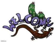 Iron welcome sign, 'Desert Host' - Iron welcome sign