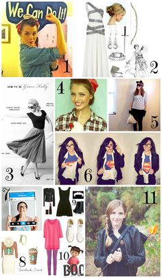 Top 11 Cheap and Easy Halloween Costumes, last minute costume for women with clothes you already probably have!