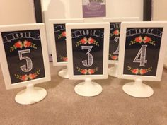 Ikea Tolsby frames - double sided table numbers.