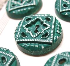 Vintage Brushed Celluloid Buttons / 10 on by RareRagsandTreasures, $30.00