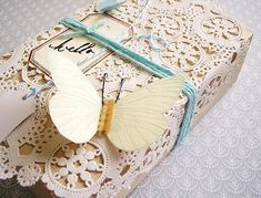 doily inspiration is endless...like the paper butterfly too!