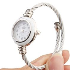 Quartz Watch with Metal Rope Watch Strap