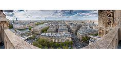 Paris vue de l'Ouest - Tour Saint Jacques
