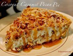 Coconut Caramel Pecan Pie Recipe