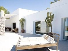 villas Modern and chic villa for rent in Ibiza ikh.villas Modern and chic villa for rent . Outdoor Spaces, Outdoor Living, Outdoor Decor, Exterior Design, Interior And Exterior, Porch And Terrace, Mediterranean Homes, White Houses, Beautiful Homes