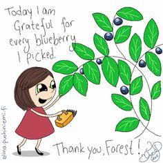Palasia sateenkaaresta: Blueberry Gratefulness
