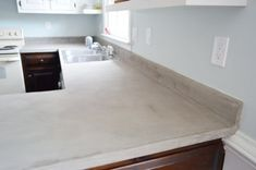 Trying Our Hand At DIY Ardex Concrete Counters | Young House Love