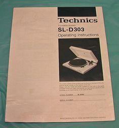TECHNICS TURNTABLE SYSTEM SL-D303  Operating Instructions Brochure 1981 VTG