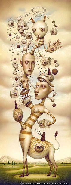 Resurrection - Twisting Reality - surrealism by Naoto Hattori