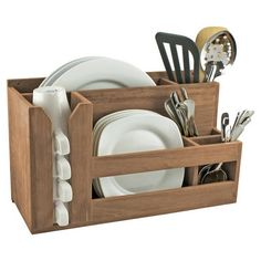 Space saving SeaTeak Wall Mounted Kitchen Organizer in Natural SKU #: SETE1137 - possible DIY project