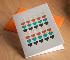 Letterpress cards with HEARTS by moxie house.