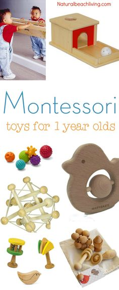 The Best Montessori Toys for 1 year olds, Montessori Baby Toys, Montessori home, Montessori gifts for 1 year olds, Montessori Toys Toddlers love, Gift ideas #Montessori #gifts #toys