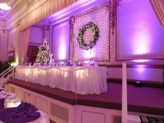 Brianne And Paul Started Their Reception With Uplighting In Pink The East Ballroom At Bayfront Convention Center Erie PA