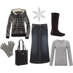 Too bad in MI all our cute winter outfits are covered by three coats.