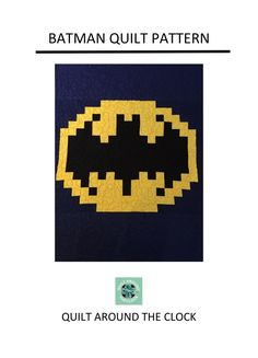 Batman Quilt Pattern | Quilting Pattern | PDF pattern | immediate download | Superhero Quilt by QuiltAroundTheClock on Etsy https://www.etsy.com/au/listing/496038779/batman-quilt-pattern-quilting-pattern