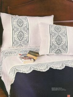 Modern Home Decorating And Interior Design Ideas - Crochet Filet Filet Crochet, Crochet Borders, Crochet Lace, Crochet Patterns, Crochet Bedspread, Linens And Lace, Home Textile, Embroidery Stitches, Diy Home Decor