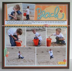 Nice scrapbook layout for lots of photos