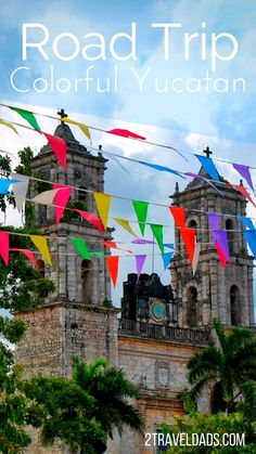 Doing a road trip around the Yucatan Peninsula is unforgettable with time swimming with sea turtles in the Caribbean and jumping into cenotes in the jungle. Colorful towns and beautiful nature along this great road trip itinerary. #Yucatan #Mexico #Caribbean #roadtrip #travel #familytravel #Valladolid #PuertoMorelos #Holbox