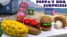Peppa Pig Play Doh BBQ Surprise Eggs Thomas and Friends Disney Cars Froz...