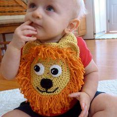 March, In like a Lion, out like a.....Ravelry: Loveable Lion Drool Spit Bib crochet pattern by Darleen Hopkins