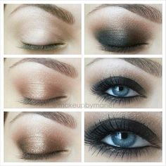 BLUE EYES SMOKEY EYE EFFECT