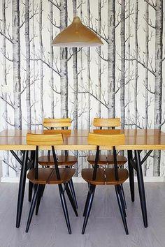 grafisch mustertapeten schöne tapeten esszimmer