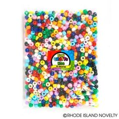 Create your own crafts with our Assorted Pony Beads! This bag of colorful beads is perfect for bracelets, necklaces, keychains and more. Host an arts and crafts party and see what your guests create! 1000 beads per bag. #backtoschool #ilovemystudents #education #learning