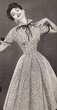 Dorian Leigh in a Lilli Ann Dress, 1954