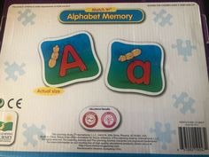 The Learning Journey Match It! Memory - Alphabet -Capital and Lowercase Letters 2 Magnetic Alphabet Letters, Alphabet Board, Letter Matching Game, Matching Games, Abc Education, Memory Games For Kids, Teaching The Alphabet, Alphabet Design, Learning Numbers