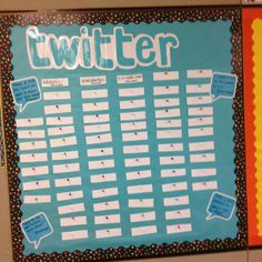 A twitter bulletin board that I'm going to use in my middle school math class. Students can make comments about class, post questions that they have, and have their voice heard in the class.