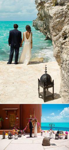 A bohemian beach destination wedding inspiration shoot in Turks Caicosby Brilliant Studios 0065