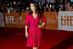 TORONTO FILM FESTIVAL: Salma Hayek intr-o rochie Gucci. Vezi rochiile din colectia noastra: www.dressbox.ro/gucci