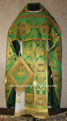 Russian Orthodox Priest Vestment Vestments Greek Metallic Brocade Green | eBay