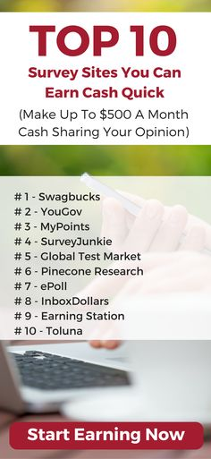 Make money sharing your opinion. Here are the ten best survey sites for earning extra money.