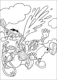 Codename Kids Next Door Pose Threes Coloring Pages