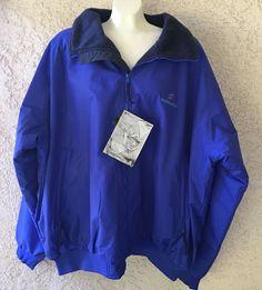 Tri Mountain Heavy 8800 Mountaineer Toughlan Nylon Zipper Blue Jacket 6XL #TriMountain #BasicJacket