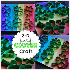 3-D Four Leaf Clover Craft for St. Patrick's Day from I Heart Crafty Things
