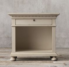 RH's St. James Open Nightstand:Evoking the architectural classicism of turn-of-the-century design, St. James is grand in both scale and beauty.