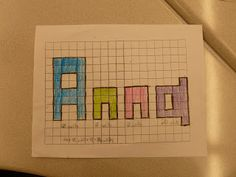 Anchored In 3rd Grade: Name Perimeter Project