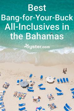 The Bahamas -- a destination characterized by its beautiful beaches, clear water, swimming pigs -- is home to many all-inclusive resorts. Here are six of the best bang-for-your-buck all-inclusive resorts in the Bahamas. Bahamas All Inclusive, Bahamas Honeymoon, Best All Inclusive Resorts, Best Bahamas Resorts, Bahamas Hotels, Cheap Honeymoon, Family Resorts, Beach Vacation Tips, Best Island Vacation