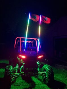 RZR 1000 highlifter edition with reaper lights and aurora tribal whips