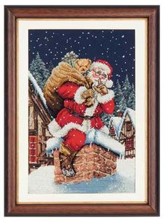 Father Christmas, counted cross-stitch