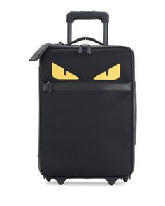 Monster+Eyes+Canvas+&+Leather+Trolley+Suitcase,+Black+by+Fendi+at+Bergdorf+Goodman.