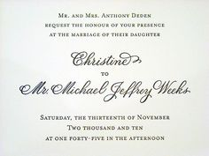 Wedding invitation designed in hand calligraphy copperplate script wedding invitation with names designed in hand calligraphy copperplate script style stopboris Images
