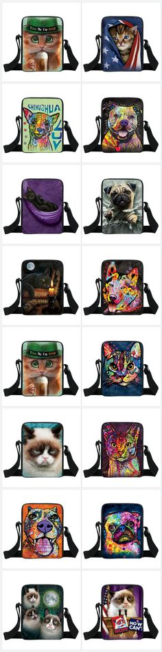 Basset Hound Chihuahua Luv Thoughtful Pitbull Husky Pug Oil Canvas Mini Messenger Bag CrossBody Bags #chihuahua #bassethound #pitbull #huskies #pugs #messengerbags https://looneypaws.com/cartoon-kawaii-cat-prints-messenger-bag-kids-small-shoulder-bags-grumpy-cat-women-handbags-children-book-bag-gift-crossbody-bags/