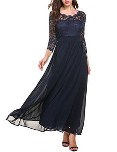 Acevog Women's Floral Lace 2/3 Sleeves Long Formal Evenin... https://smile.amazon.com/dp/B06XHJ5M9B/ref=cm_sw_r_pi_dp_x_TQ9AzbNFGGQ9C
