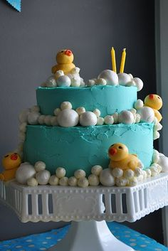 Little Sooti: Rubber Ducky Party birthday cake